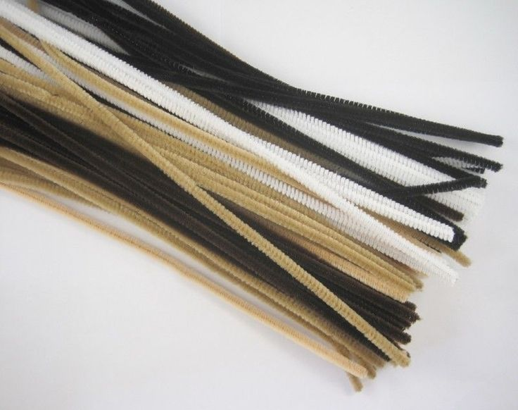 "50pcs 12"" LONG Mixed Color CHENILLE STEMS/PIPE CLEANERS 6MM THICK 014035"