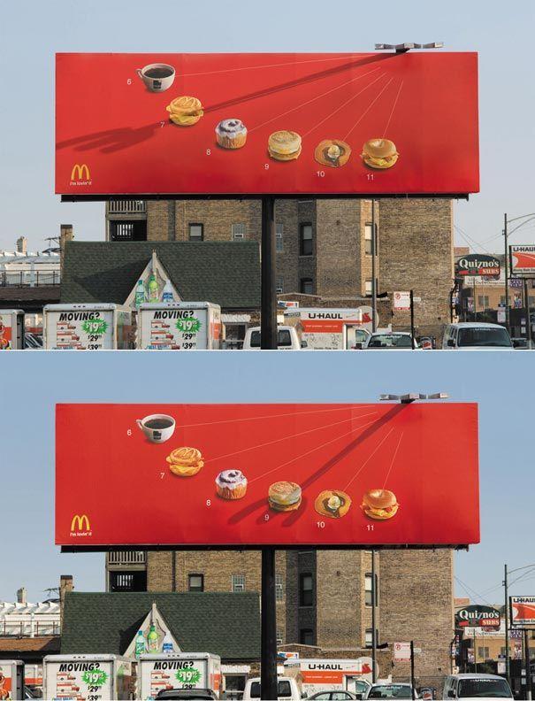 A working sundial to showcase McDonald's breakfast menu. Pretty awesome.