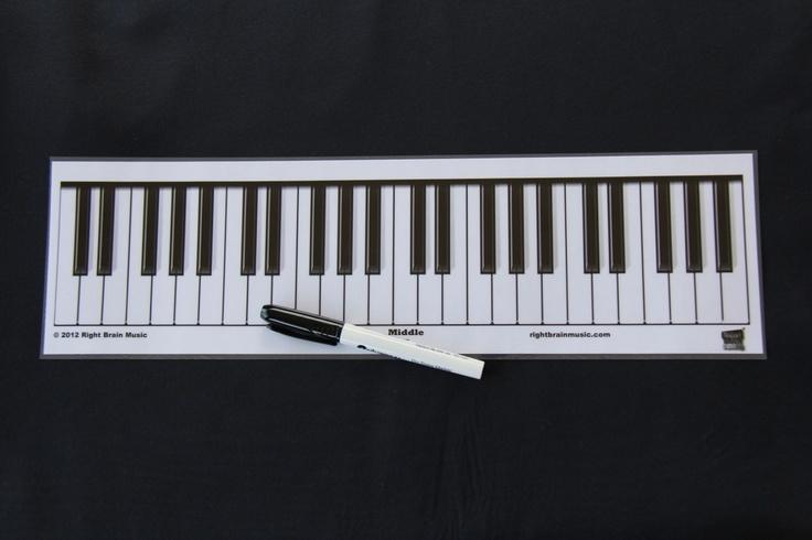 laminated piano keyboard chart like it pinterest