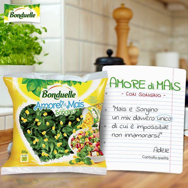 #Amore di #Mais di #Bonduelle con #mais e #songino vi farà innamorare al primo assaggio! http://www.bonduelle.it/prodotti/le-insalate-miste/amore-mais-songino/