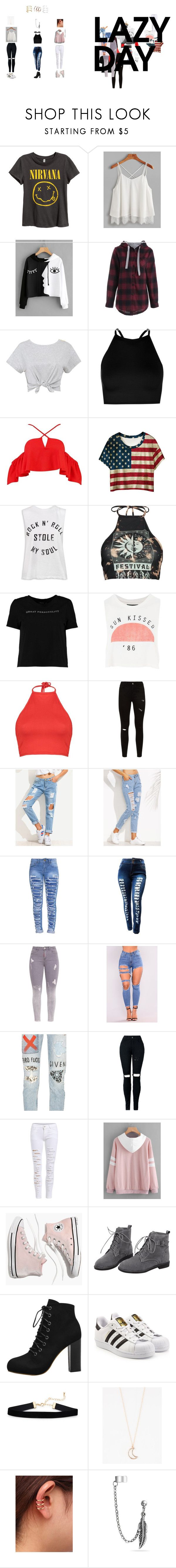 """""""christmas gifts"""" by breejanae128 on Polyvore featuring Boohoo, WithChic, Sans Souci, Topshop, GRLFRND, Madewell, adidas Originals, Full Tilt, Bling Jewelry and Bing Bang"""