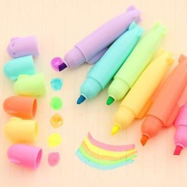 EUR € 3.67 - Leuke snoep kleuren Missile Modeling vormige plastic met inkt Schrijf Marker