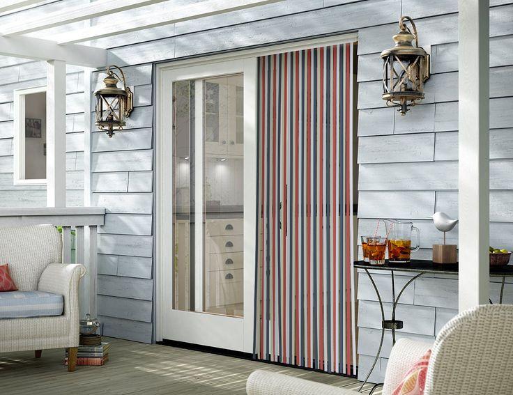 Színes (piros, fehér, kék, drapp) szalagokból álló függöny ajtóra....-Akciós ár:1390 Ft
