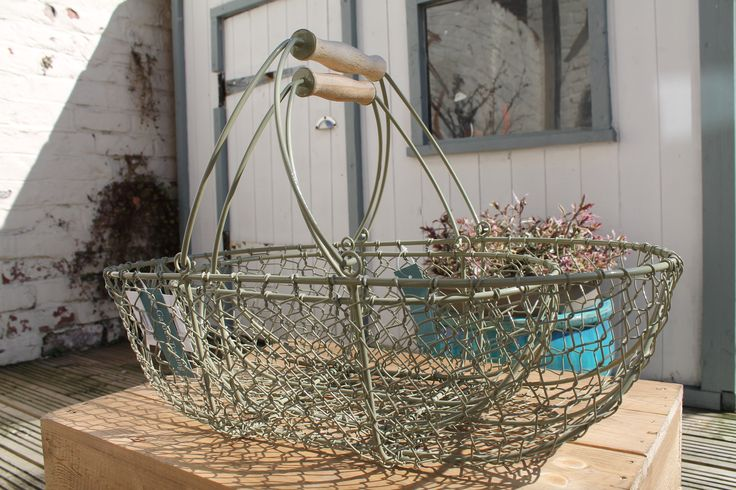 A set of 2 wirework nesting trugs perfect for carrying fresh produce, storing or displaying your glorious fruit and vegetable harvest or a great gift for someone who loves their garden £42.