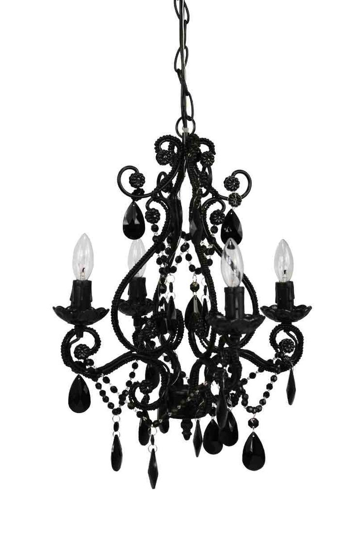Tadpoles Four Bulb Chandelier Black