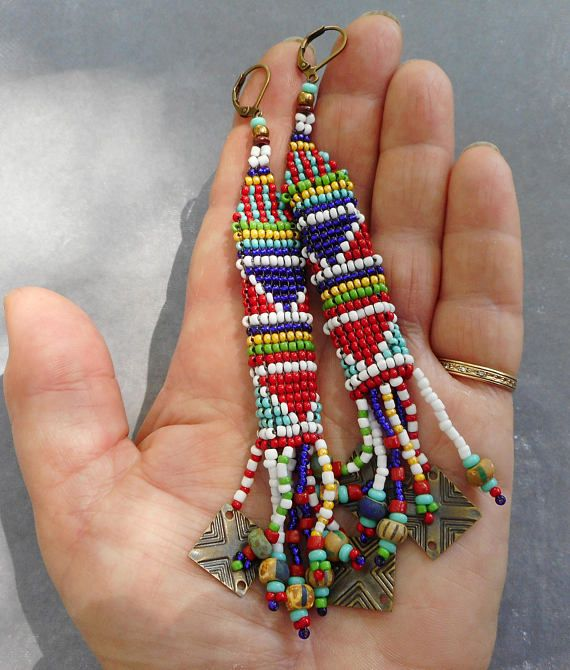 Ethnic collection seed bead earrings series 4