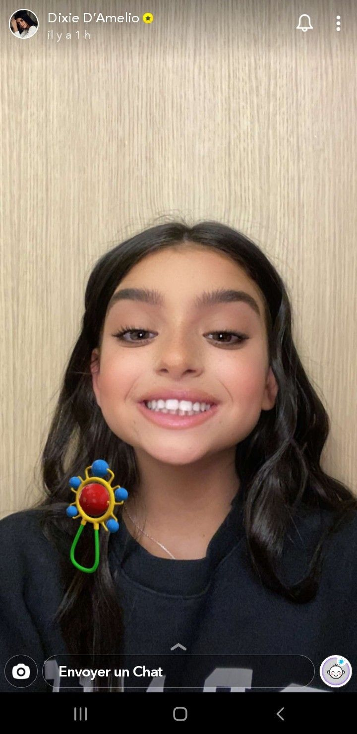 Dixie D Amelio On Snapchat Baby Filter Dixie Filters The Most Beautiful Girl