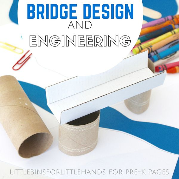 Building Bridges Engineering Activity -  Are you looking to incorporate more STEM activities in your classroom? Then you don't want to miss this Bridge Engineering Activity!~Pre-K Pages