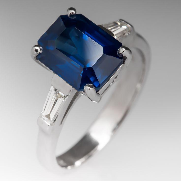 Carat Emerald Cut Sapphire Ring