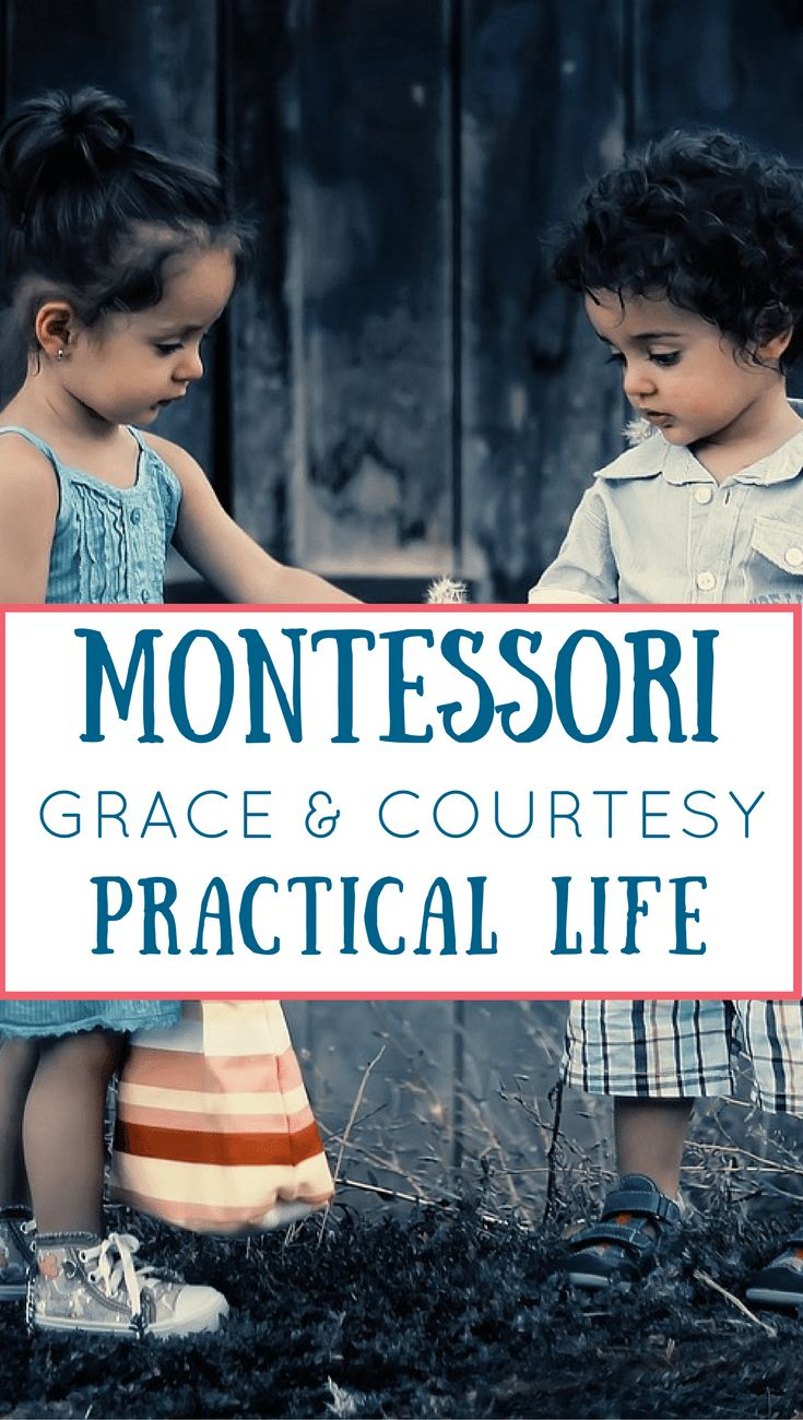 Montessori's Grace and Courtesy curriculum is beautiful and extends from early childhood through elementary. via @marniecraycroft