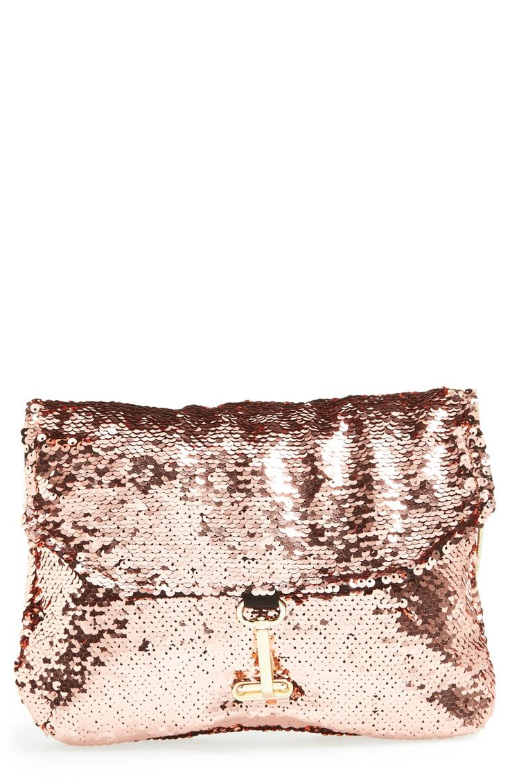 Rose gold sequin clutch. Perfect for a fun night out! http://iwantmk.blogspot.com/ #discount mk bags#MK bags #mk outfits #michaelkors bags #bag for mk $61.99 for your best gift for self!