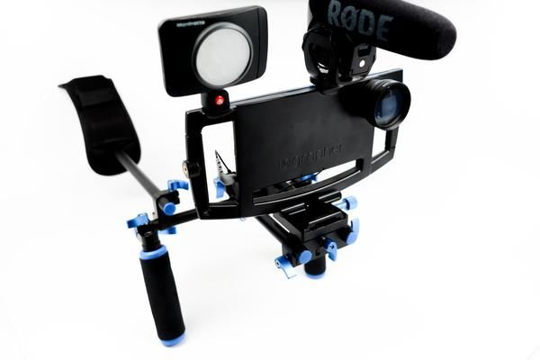 Add an extra layer of stability with our new lightweight shoulder mount! Features: Fits with any iOgrapher case Quick release mount to go hand held only with t