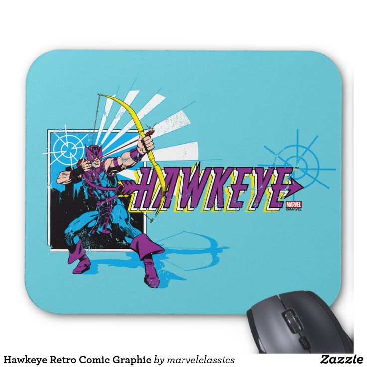 Hawkeye Retro Comic Graphic