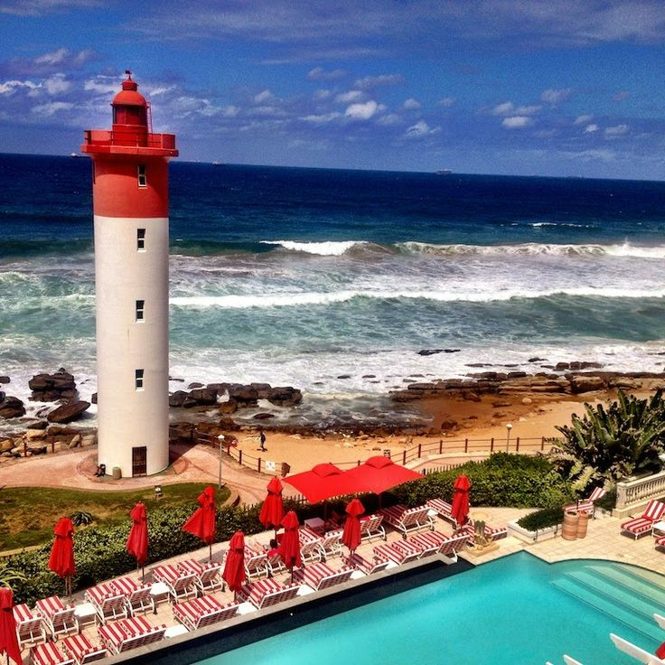 The infamous view from the Oyster Box Hotel, Umhlanga, Durban