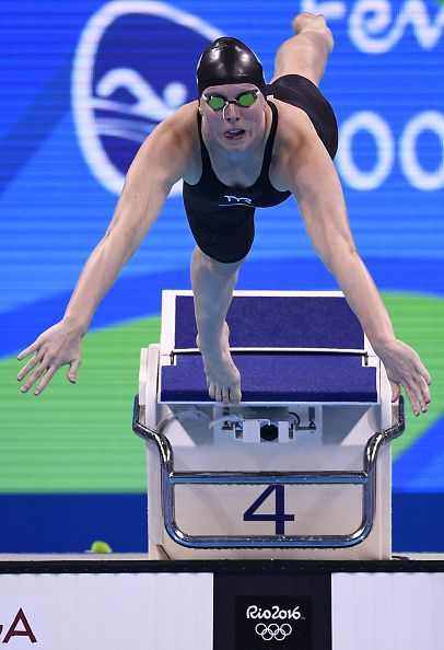 #RIO2016 #TOPSHOT USA's Lilly King competes to break the Olympic record in the Women's 100m Breaststroke Final during the swimming event at the Rio 2016...