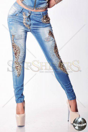 Jeans Ocassion Cat Woman Blue