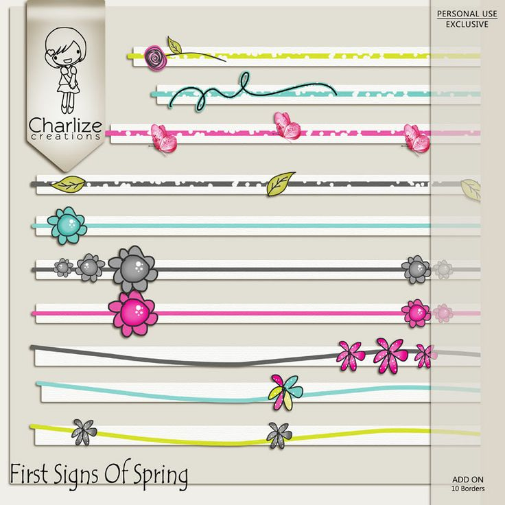 Oscraps :: Shop by Designer :: Charlize Creations :: First Signs Of Spring Borders