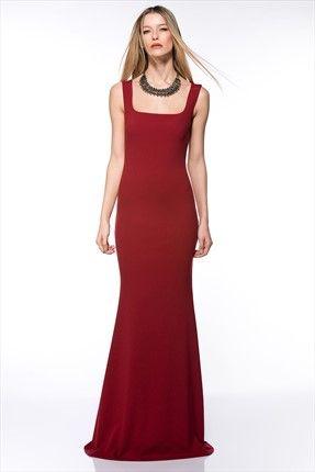 Milla by trendyol - Gece Koleksiyonu - Bordo Elbise MLWAW154933 sadece 99,99TL ile Trendyol da