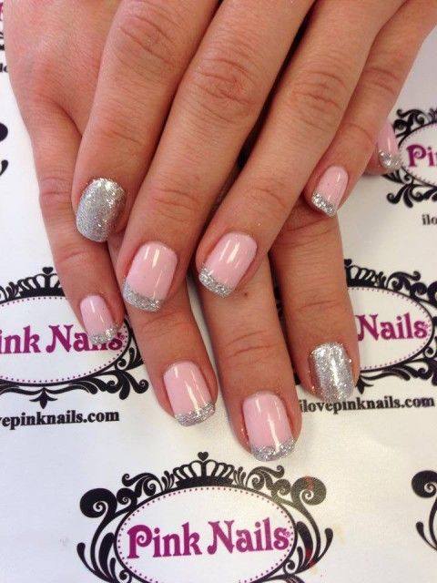 Pink and Silver Rock Star Nails
