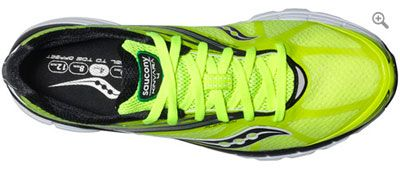 YOU'RE  A MACHINE. HERE ARE YOUR TIRES. Saucony Kinvara 4 Running Side