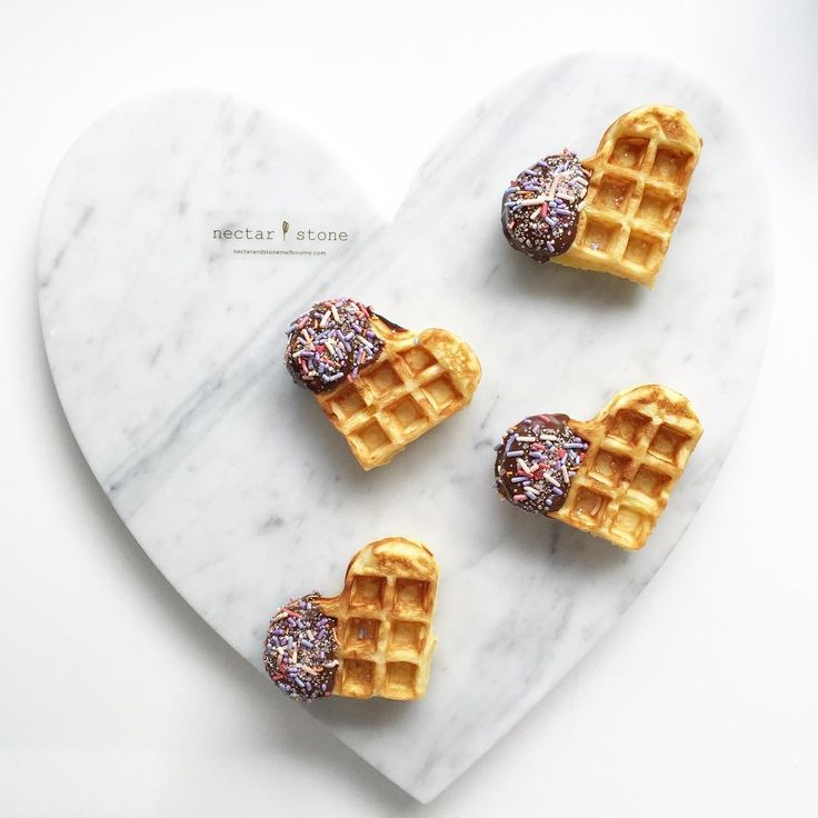 """Waffle day - @allegra_stone heart marble """