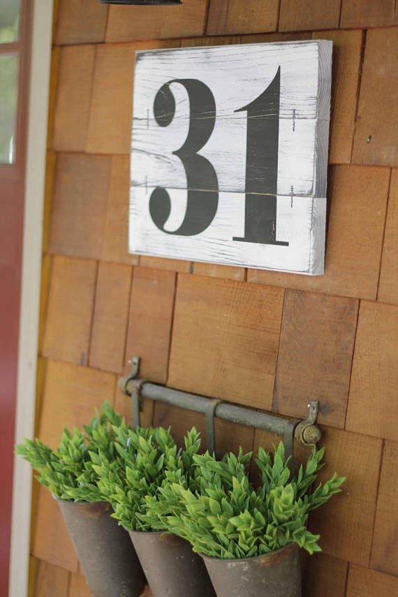 These rustic subway numbers offer unlimited possibilities! As featured in HGTV Magazine November 2017! Vintage style numbers are painted on wood slat pallets which are painted and then distressed! RECOMMENDED for use indoors or outdoors in covered areas such as a porch. Comes with