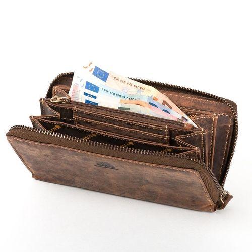 Große Leder Damen Geldbörse Portemonnaie Brieftasche Greenburry VINTAGE 820-25