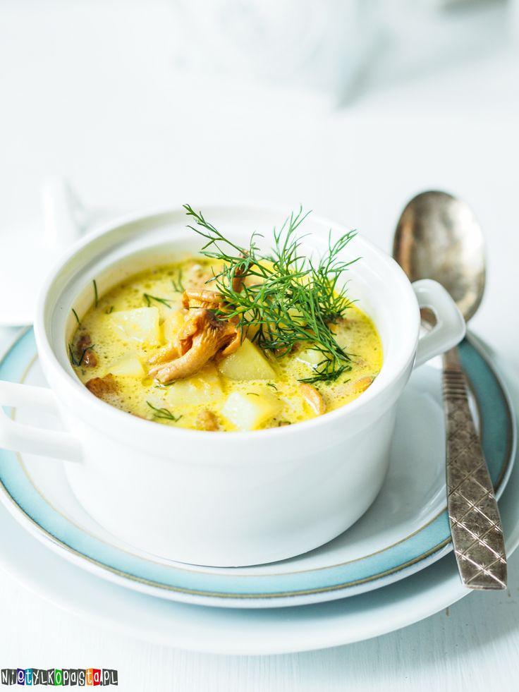 Przepis na zupę kurkową, pyszna zupa z kurek #soup #food #kurki