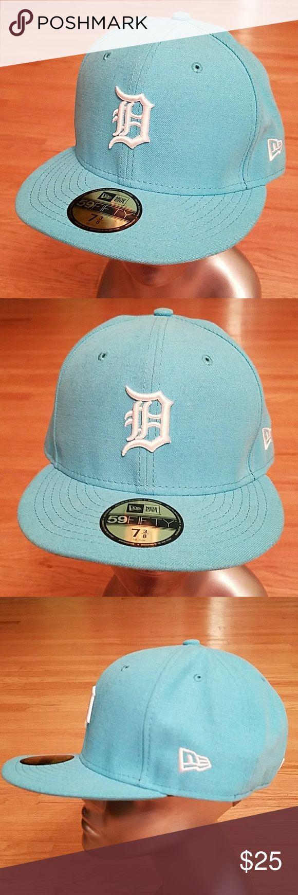 6b667d96640 ... new arrivals mlb new era detroit tigers aqua blue fitted cap 7 3 8  boutique 68961