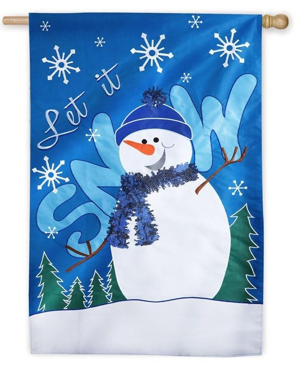 Winter Garden Flags Part - 19: IAmEricas Flags - Let It Snow Bling Snowman House Flag, $27.00 (http:/