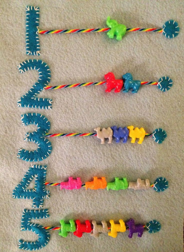 Counting Beads Quiet Book Page