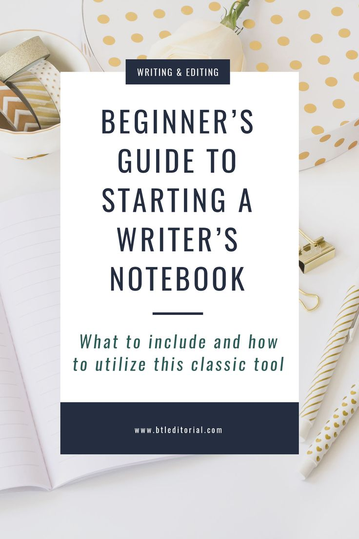 A writer's notebook is the perfect place to keep your inspiration, ideas, notes, and references to anything else you need for your next project!