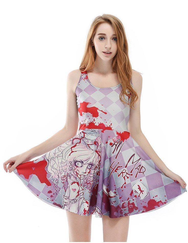 Horrific Corpse Bride Murder Scene Print Vest Fancy Skater Dress
