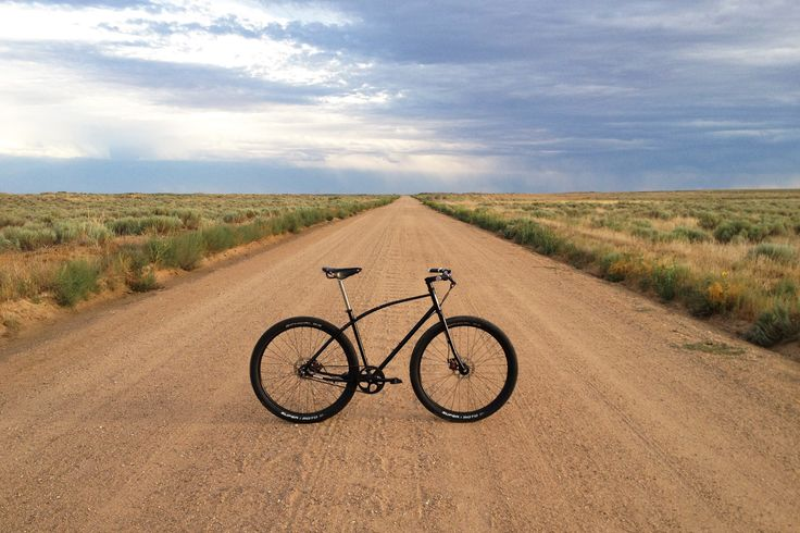 Budnitz Bicycles No.3 Steel on a never-ending dirt road