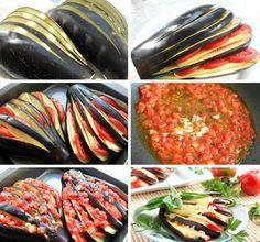 postup recept Zapékaný lilek s rajčaty a sýrem
