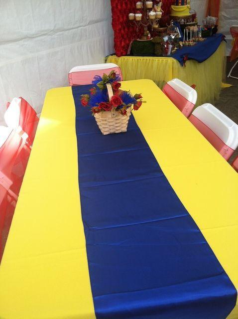 Ideas Para Organizar Y Decorar Una Fiesta De Blanca Nieves. Yellow TableBlue  ...