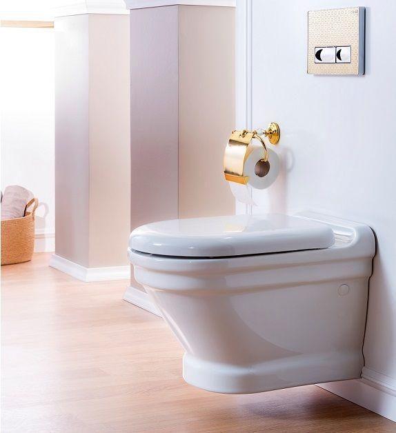 Antik Retro Wand-WC, Nostalgie WC Becken m. Absenkautomatik MARKEN PRODUKT!!! in Heimwerker, Bad & Küche, Badkeramik | eBay!