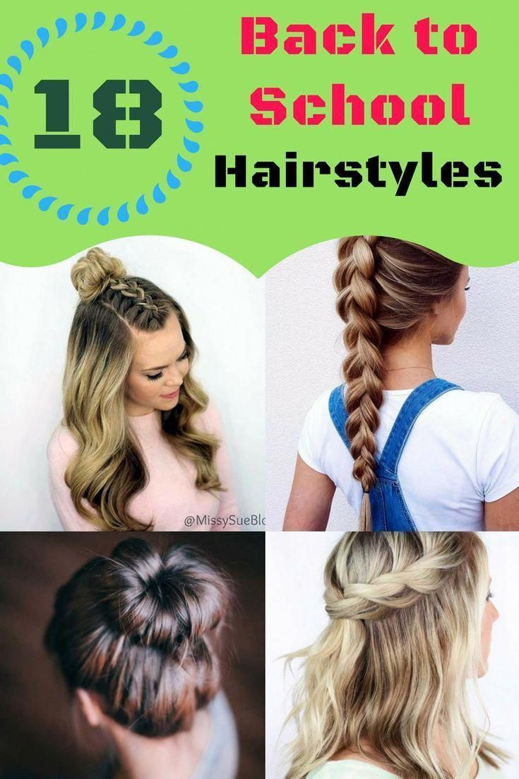 18 Quick Back to School Hairstyles,  Easy Back to School Hairstyles, Cute , Long...