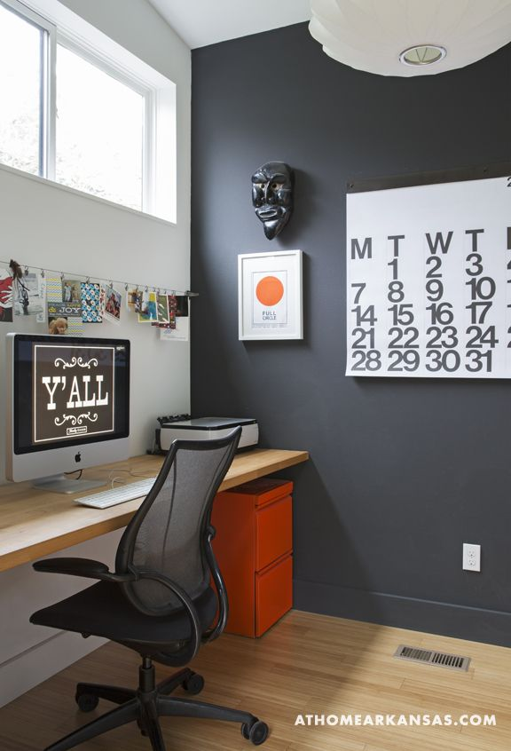 graphic design home office. In Trishas Home Office A Slim Butcherblock Top By IKEA Stands For Desk The Crisp Blackandwhite Palette Serves As Canvas Graphic Design W