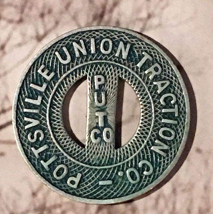 Vtg Pottsville PA Union Traction Co PUTCO PUT Co * Bus Fare Token