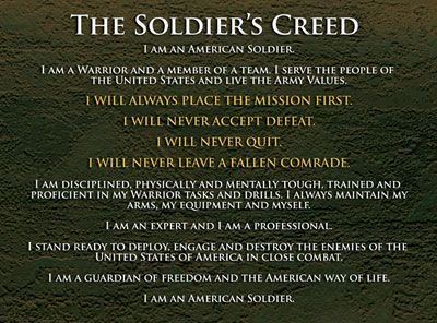 Those words are inspiring Hooah