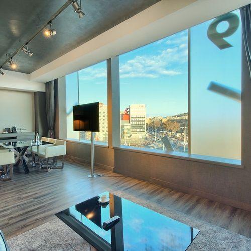 luxueuse suite avec vue sur centre ville de Barcelone