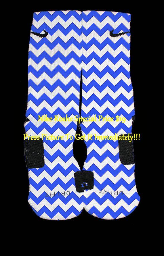... kobe viii system fireworks; bedazzling blue chevron custom nike elite  socks by thesickestsocks 35.99 ...