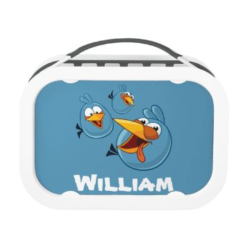 Angry Birds Classic   The Blues - The Blues are happy! Personalize this Angry Birds design! Click the Customize button to insert your own name or text to make a unique product.