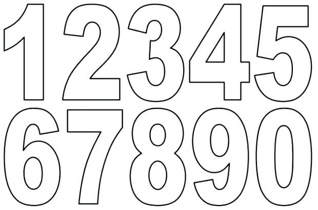 Number Cake Pattern Numbers Template For Unique Numbers Templates