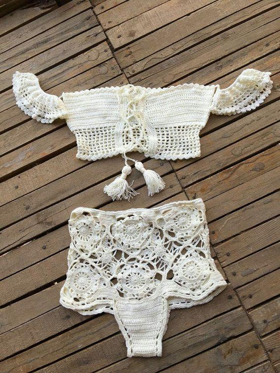 Crochet Bikini Summer Bikini by byrosali on Etsy