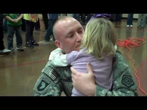 U.S. Army Blackhawk Pilot Surprises Daughter at Airport - YouTube
