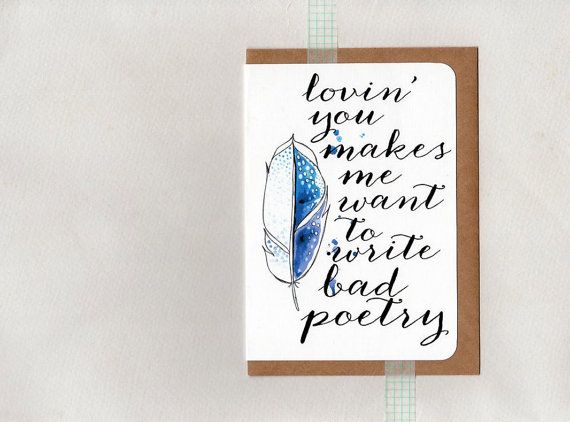 BAD POETRY . greeting card . art card . mini by ThePaisleyFive
