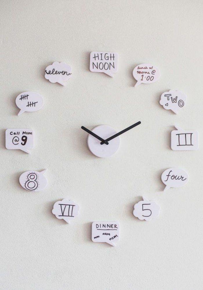A REFLECHIR  horloge murale originale et créative pour chambre ado