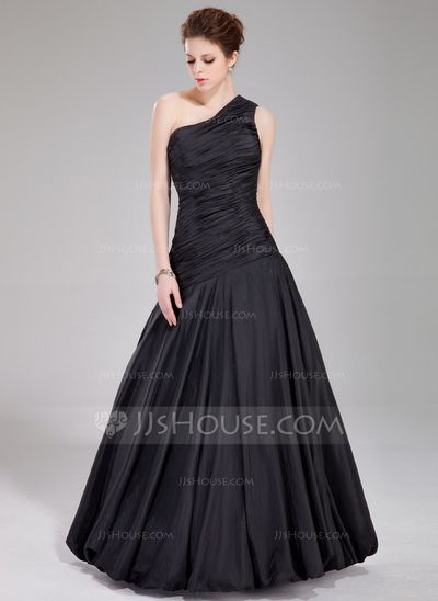 Prom Dresses - $149.99 - A-Line/Princess One-Shoulder Floor-Length Taffeta Prom Dress With Ruffle (018022534) http://jjshouse.com/A-Line-Princess-One-Shoulder-Floor-Length-Taffeta-Prom-Dress-With-Ruffle-018022534-g22534?ver=0wdkv5eh